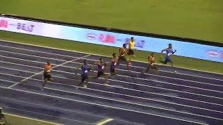 Zharnel Hughes runs World leading time defeats Yohan Blake over 100m Gibson McCook Relays 2018
