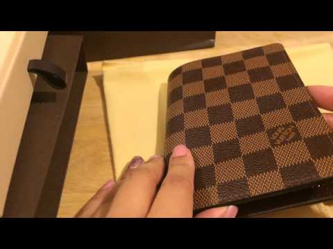610232595365 Louis Vuitton Passport Holder Unboxing   Review - Damier Ebene
