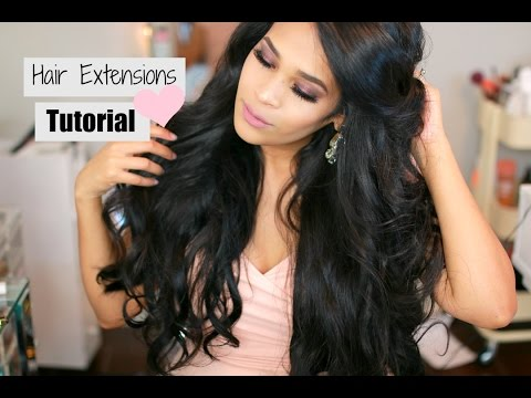 All About My Hair Extensions - Luxury For Princess Hair Extensions Clip In Tutorial - MissLizHeart