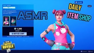 ASMR - France Fortnite NEW Bubble Bomber Skin et Bubblegum Set! Mise à jour de l'article Shop 🎮🎧Relaxing Whispering😴💤