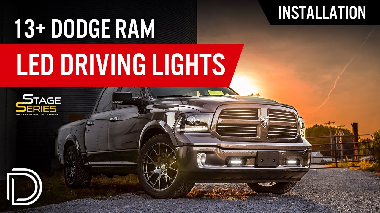 How to Install 2013+ Dodge Ram LED Driving Lights by Diode Dynamics ...