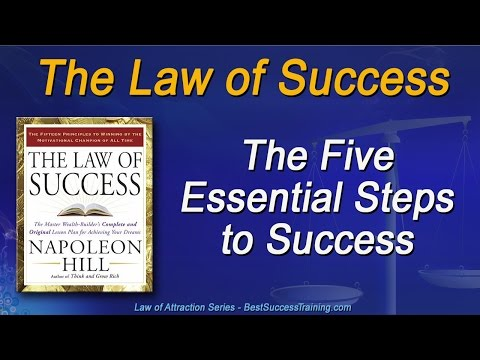 The Law of Success - the Five Essential Steps to Success