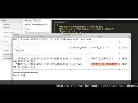 openstack heat gateway example - YouTube