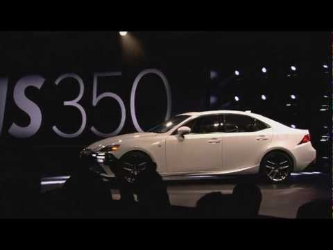 The new Lexus IS revealed at North American International Auto Show