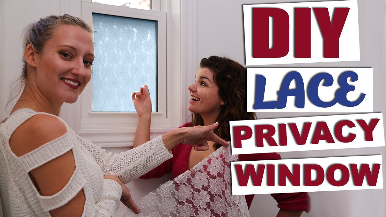 diy window privacy diy etched glass diy lace privacy window basic girls guide youtube
