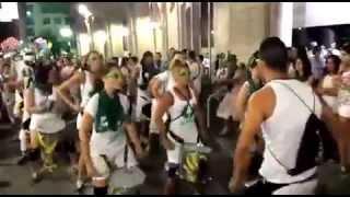 Batucada Sambalá en las fiestas de San Lorenzo 2014 en Huesca