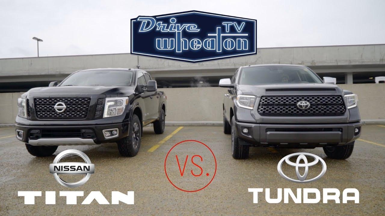 nissan titan vs toyota tundra full size pickup comparison youtube. Black Bedroom Furniture Sets. Home Design Ideas