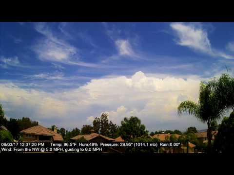Chino Hills Time-Lapse 8/3/17
