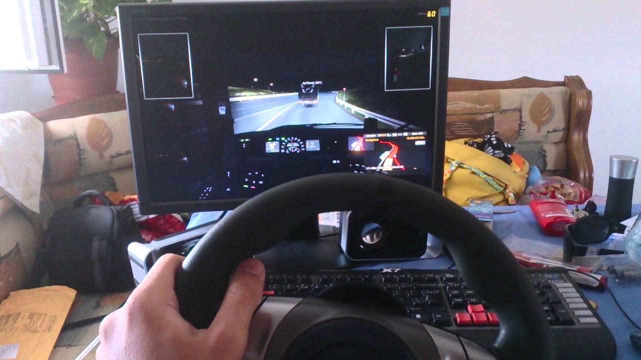 ETS2 New Fanatec wheel Porsche 911 carrera - YouTube