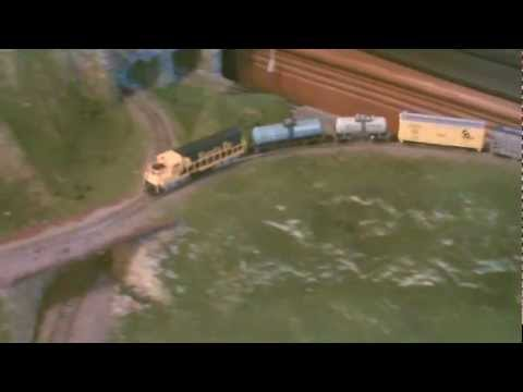 My N gauge/scale model train layout