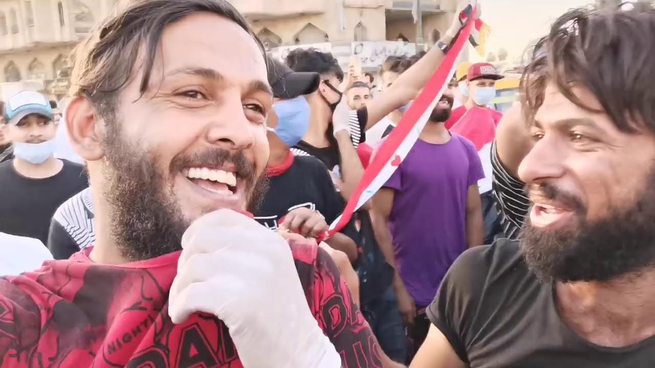 مسيرة الطلاب في ساحة التحرير