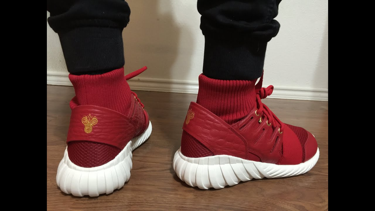eed0e619470 Adidas Tubular Doom CNY unbox and on feet review - YouTube