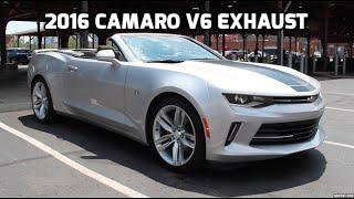 2016 chevy camaro v6 impressive loud exhaust