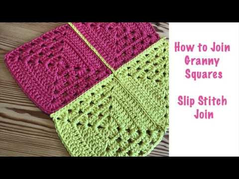 How to slip stitch crochet granny square