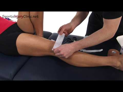 Knee Taping Simple For Added Stability and Mcconnell Technique