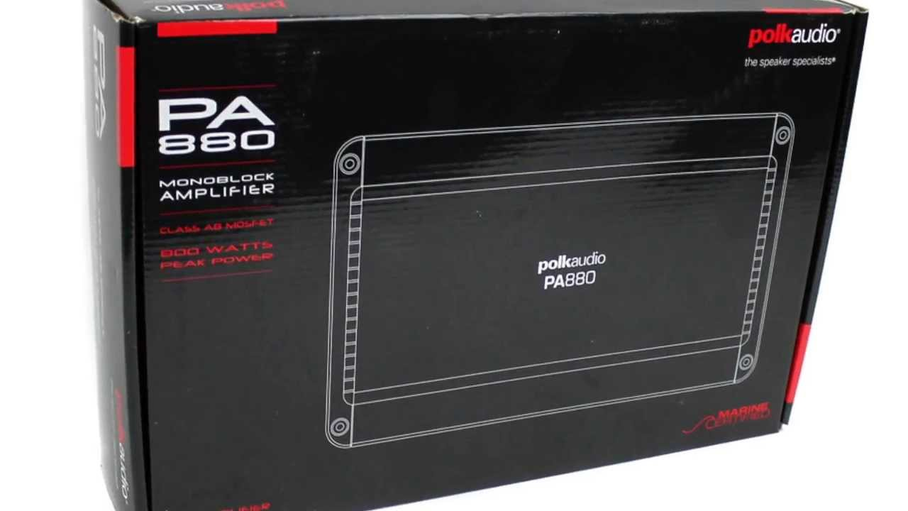 maxresdefault polk audio 800w mono ab amplifier pa880 youtube Polk Audio PA880 Manual at gsmx.co