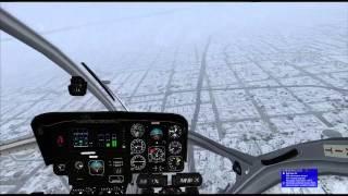 FSX + VATSIM RJCH ILS APP RWY12 MD900 bad weather