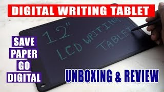 12 Inch LCD Writing Tablet - Unboxing & Review (Bengali)