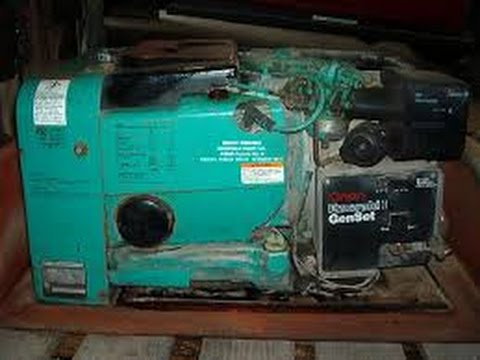 putting a starter on a onan genset youtube rh youtube com Onan Generator 4000 Schematic Onan Generator Parts List