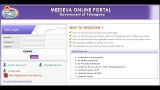 meeseva online portal registration telangana