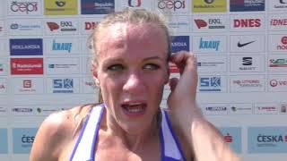 Simona Vrzalová po 800 m na MČR 2018