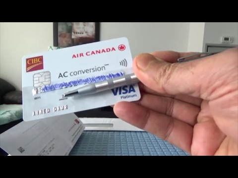 CIBC Air Canada AC Conversion Visa Prepaid Credit Card Unbox