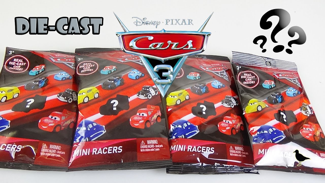Disney Pixar Cars 3 Die Cast Mini Racers Blind Bag Opening