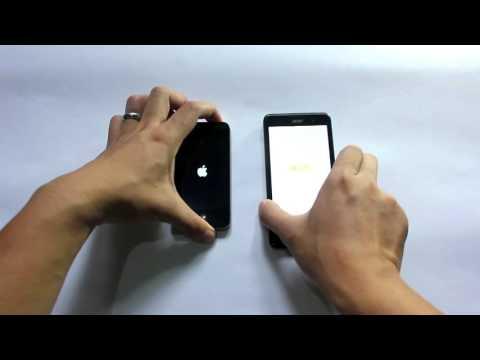 iPhone 4S vs Acer Liquid Z520 Speed Test