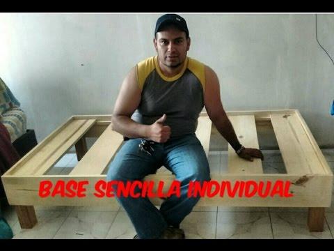 Base para cama individual sencilla youtube for Como hacer una base para cama individual