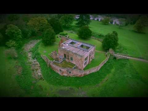 Astley Castle & St Mary Church, Astley, Nuneaton, Warwickshire UK Drone Video