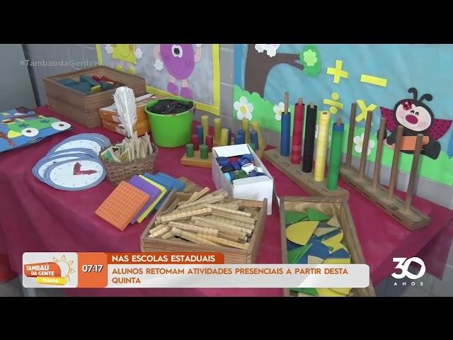 Alunos retomam atividades presenciais nas Escolas Estaduais- Tambaú da Gente Manhã