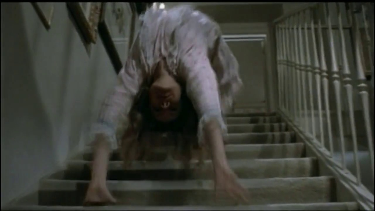 the exorcist original spider walk scene youtube