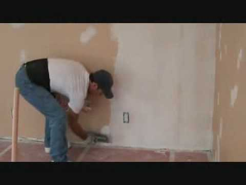 Installing Skim Coat Drywall Joint Compound Material With