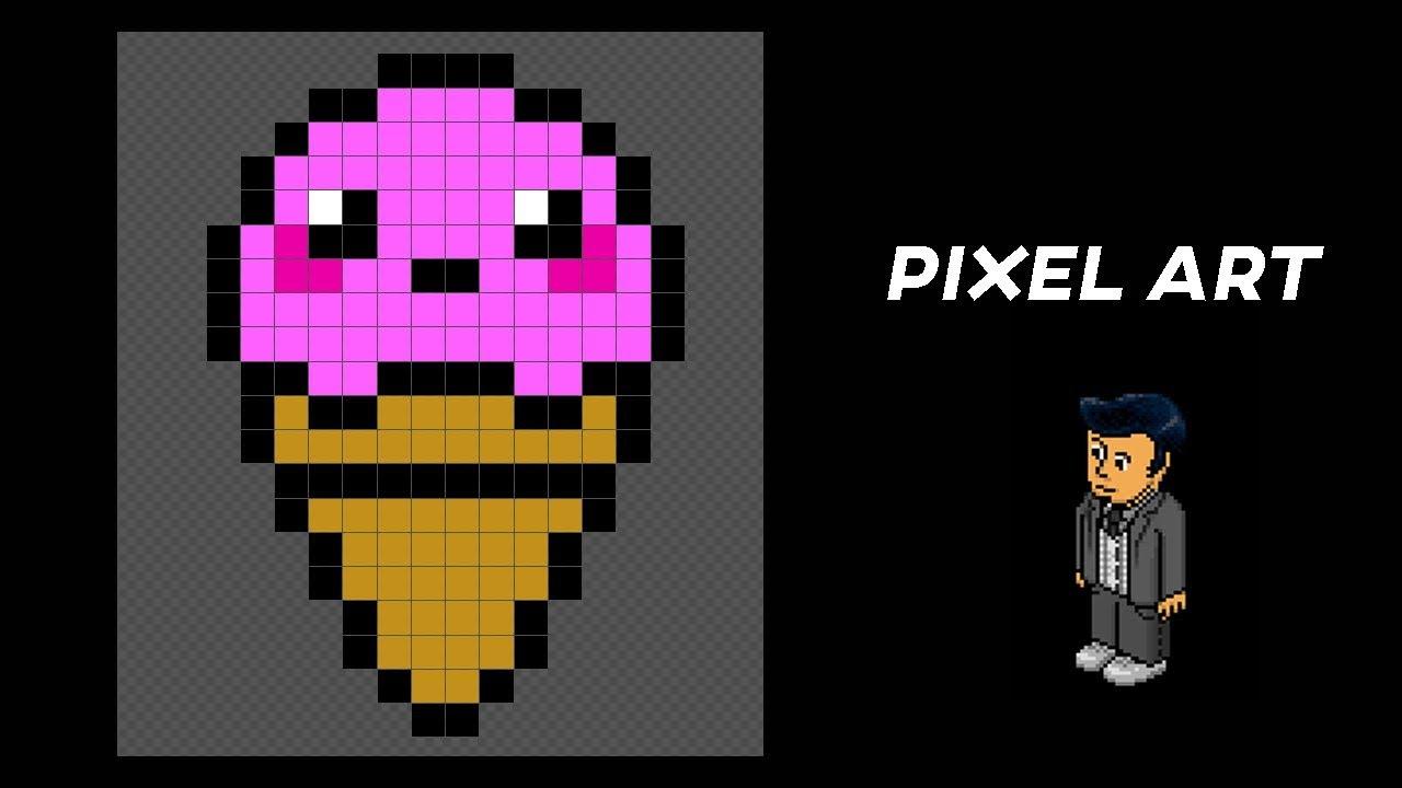 Tuto Pixel Art Glace Kawai