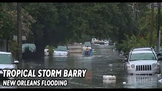 Tropical Storm Barry: Storm causes street flooding in New Orleans