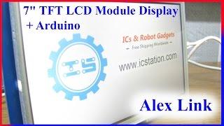 7'' UTFT LCD Module Display + Arduino from ICStation. TFT