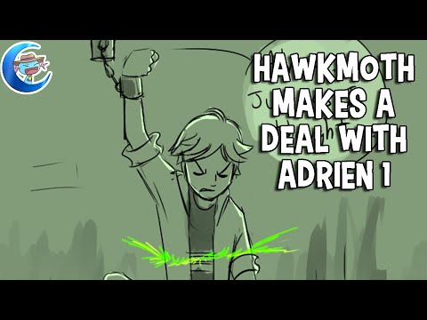 Miraculous Ladybug: Hawkmoth makes a deal with Adrien Part 1 [Comic Dub]