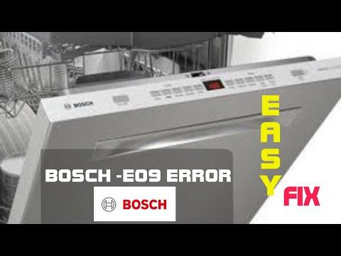 Bosch Dishwasher E09 Fixed Youtube