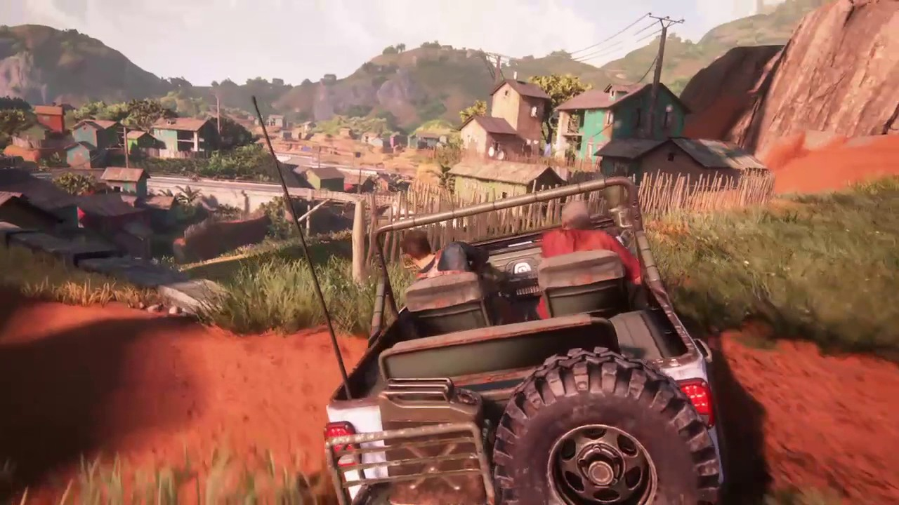 Uncharted 4 A Thief S End Jeep Down Hill Massive Car Chase Shootout