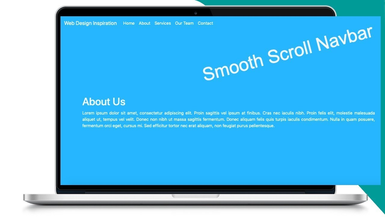 Bootstrap Navbar Smooth Scroll with Animation Effect
