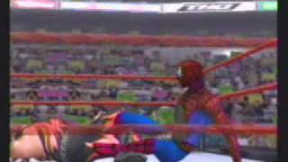 WWE Smackdown Shut Your Mouth Spider Man vs Kane .wmv