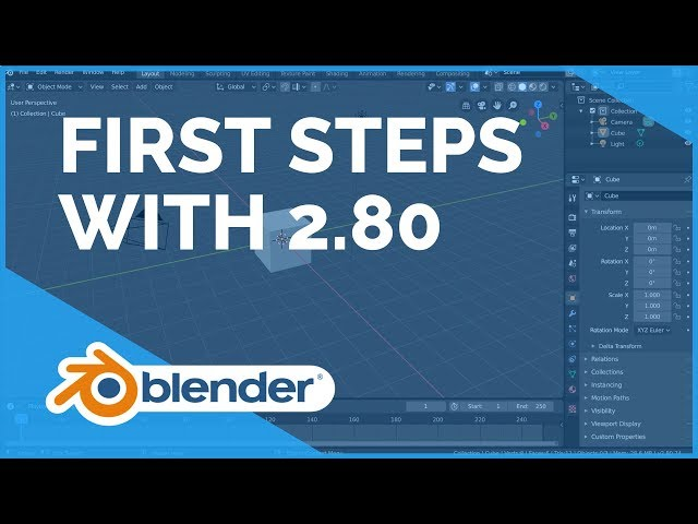 First Steps - Blender 2.80 Fundamentals