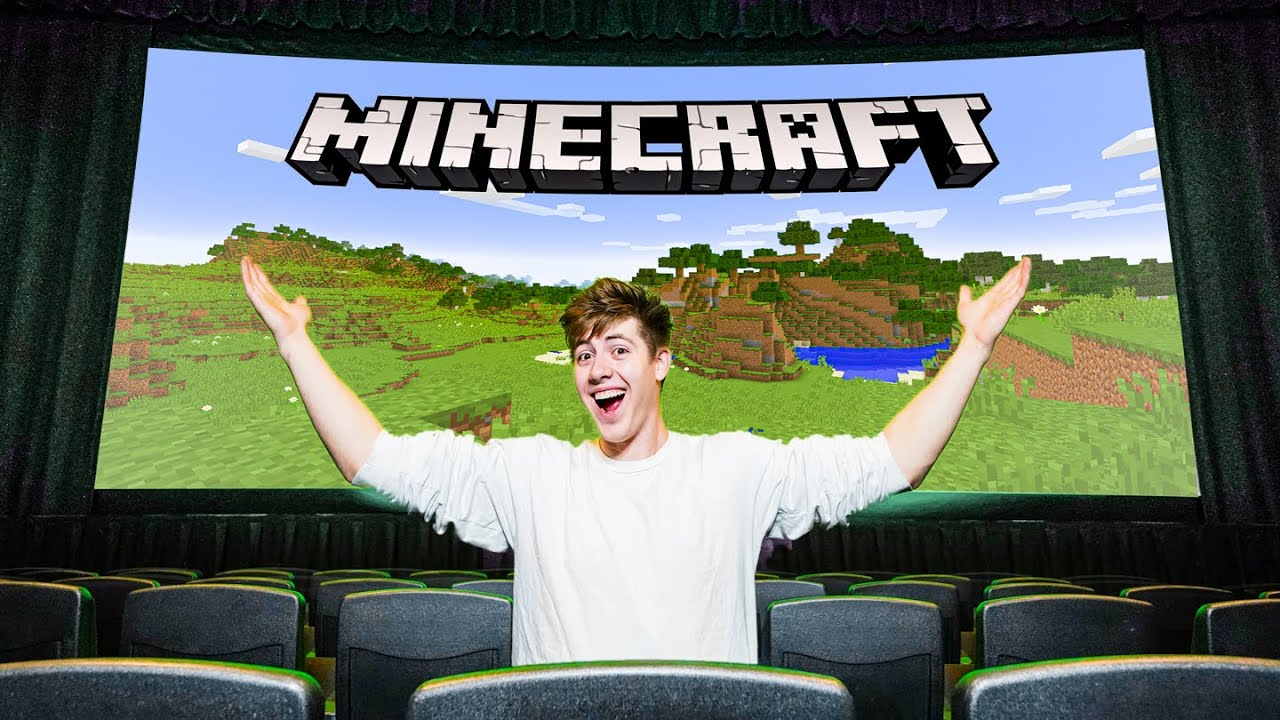 I Played Minecraft In A Movie Theater!