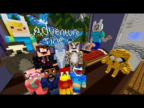 The COOLEST MAP I'VE EVER PLAYED !!! : Minecraft XBOX Hide And Seek (Adventure Time)