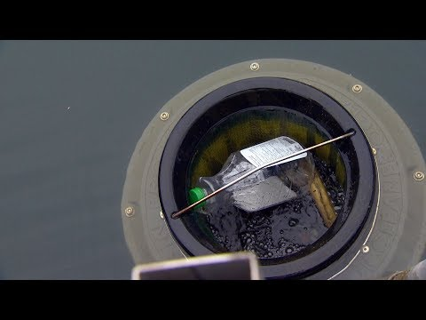 How floating trash cans are cleaning up Toronto's marina