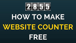 How to make a Website Counter Free (HINDI)