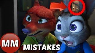 Disney Zootopia MOVIE MISTAKES You Didn't See |  Zootopia GOOFS