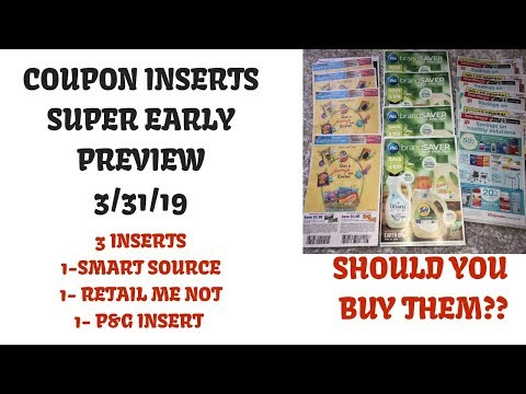Super Early Coupon Insert Preview Coupons Coming 3/31/19~3 Inserts P&G RMN~Buy or Pass