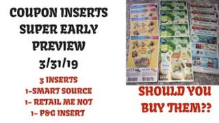 Super Early Coupon Insert Preview Coupons Coming 3 31 19 3 Inserts P G Rmn Buy Or Pass Youtube
