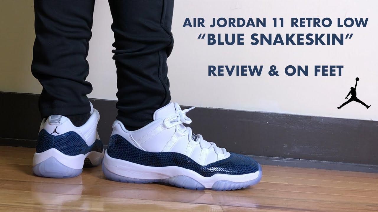 Air Jordan 11 Retro Low Blue Snakeskin